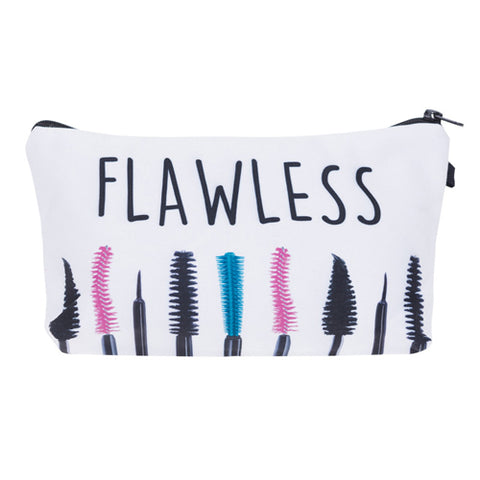 Statement Cosmetic Travel Pouch - Flawless - Unicorn Makeup Brush
