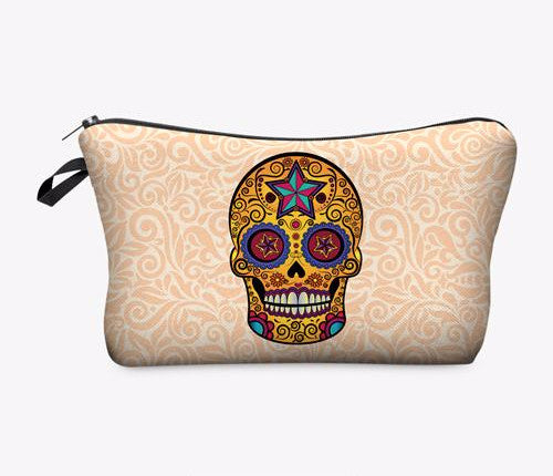 Statement Cosmetic Travel Pouch - Skull - Unicorn Makeup Brush