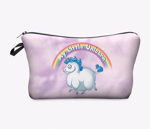 Statement Cosmetic Travel Pouch - Unicorn Rainbow - Unicorn Makeup Brush