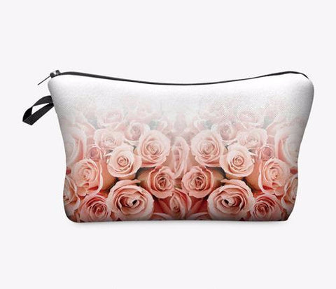 Statement Cosmetic Travel Pouch - Soft Rose - Unicorn Makeup Brush