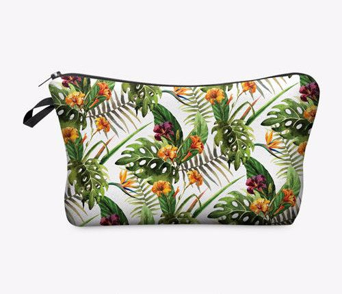 Statement Cosmetic Travel Pouch - Tropics - Unicorn Makeup Brush