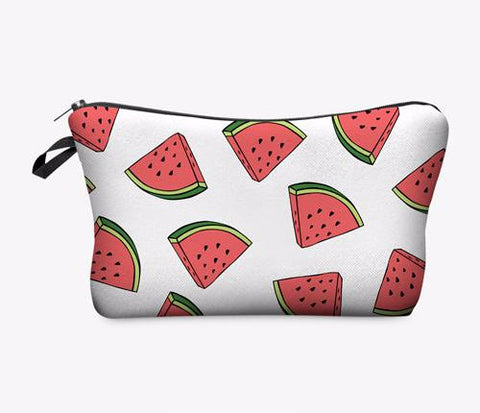 Statement Cosmetic Travel Pouch - Watermelon - Unicorn Makeup Brush