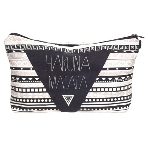 Statement Cosmetic Travel Pouch - Hakuna Matata - Unicorn Makeup Brush