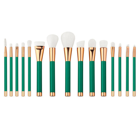 Luxury Emerald City Makeup Brushes - 15 Piece - Unicorn Makeup Brush