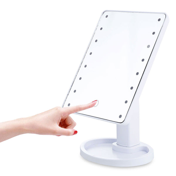 LED Touch Screen Makeup Mirror - Unicorn Makeup Brush