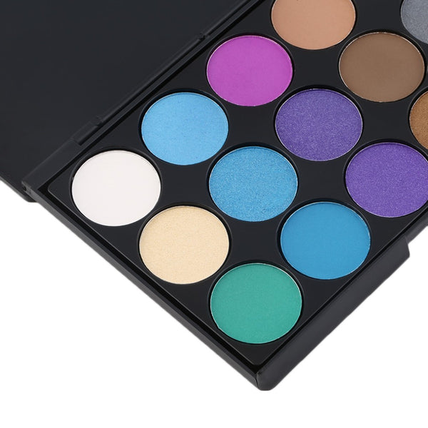 Tropical Mermaid Eyeshadow Palette - 15 Shadows - Unicorn Makeup Brush