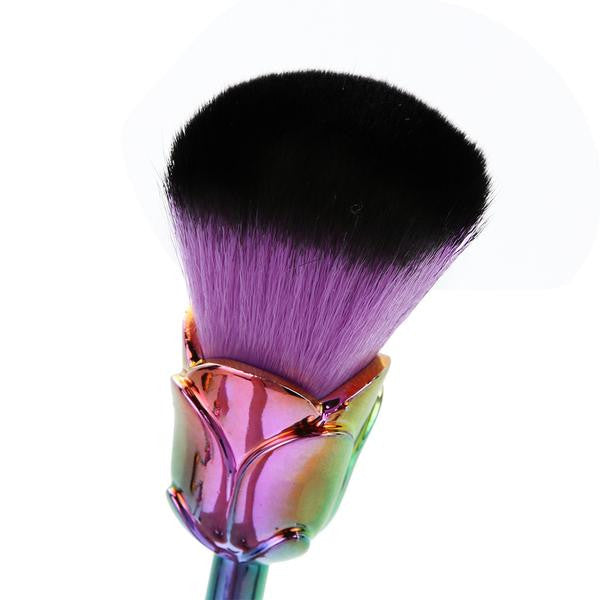Rainbow Petal Makeup Brush Set - 6 Pieces WITH FREE MERMAID BRUSH! - Unicorn Makeup Brush