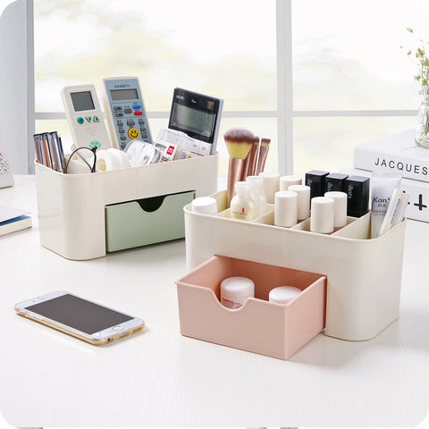 Multi-Use Organizer with Drawer - Unicorn Makeup Brush