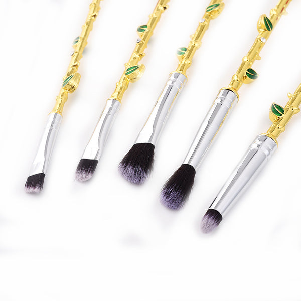 Rose Vine Eye Makeup Brush Set - 5 Pieces - Unicorn Makeup Brush