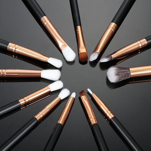 Pro Makeup Brush Set - 12 Pieces - Unicorn Makeup Brush