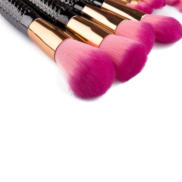 Passion Mermaid Makeup Brush Set - 10 Pieces - Unicorn Makeup Brush
