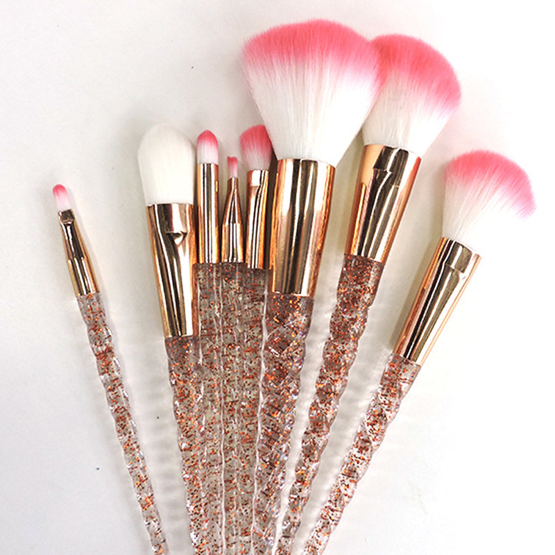 Glitter Unicorn Makeup Brush Set - 8 Pieces - Unicorn Makeup Brush