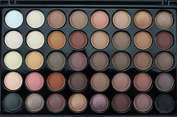 Unicorn Neutral Eyeshadow Palette - 40 Shadows - Unicorn Makeup Brush
