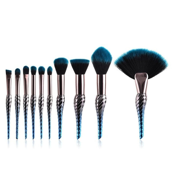 Cosmic Makeup Brush Set - 8/10 Pieces - Unicorn Makeup Brush
