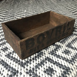 BOVRIL ORIGINAL SMALL WOODEN ADVERTISING CRATE