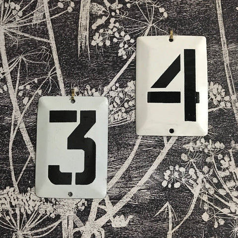 SMALL METAL NUMBERS, 1972, UKRAINE