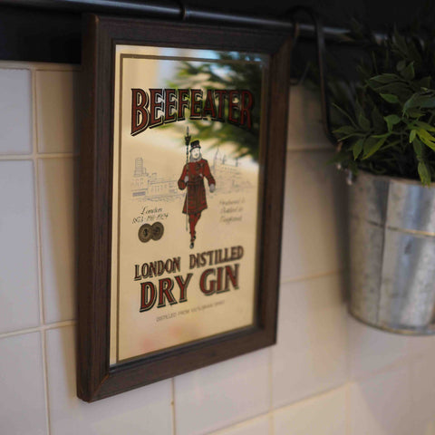 SMALL BEEFEATER GIN MIRROR