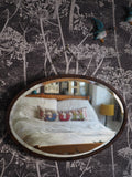 OVAL WOODEN FRAMED MIRROR