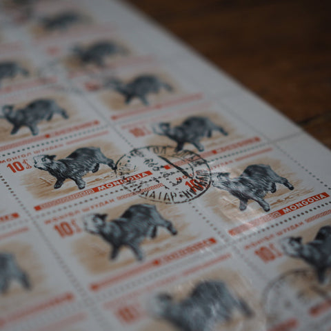 UNUSED VINTAGE STAMPS - GOAT