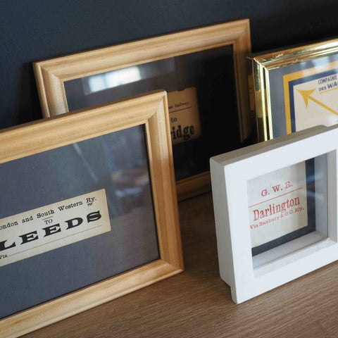 SMALL VINTAGE FRAMED TRAIN TICKETS