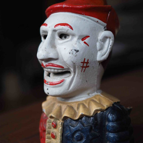 CONEY ISLAND CLOWN MONEY BOX REPLICA