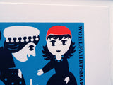 MARIE VARLEY POSTAGE STAMP INSPIRED SCREEN PRINTS