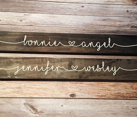 SIGN Design - Names with Heart