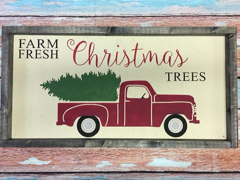 SIGN DESIGN - Christmas - Antique Truck with Tree