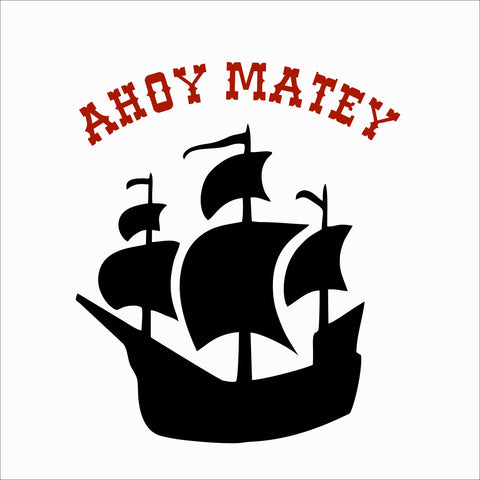 SIGN Design - Ahoy Matey - Pirate Ship