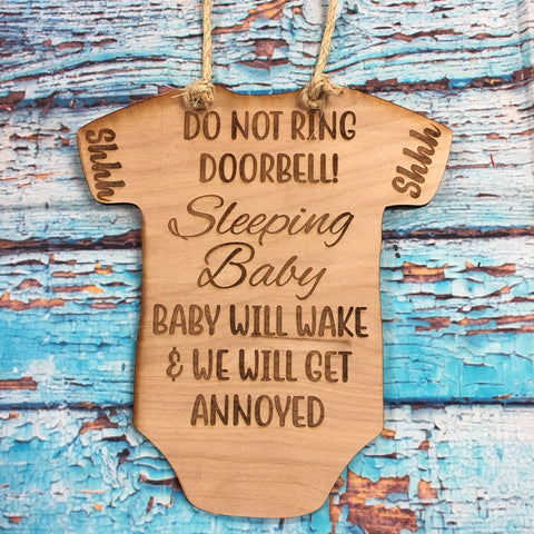 RTS - Baby Sleeping Door Hanger