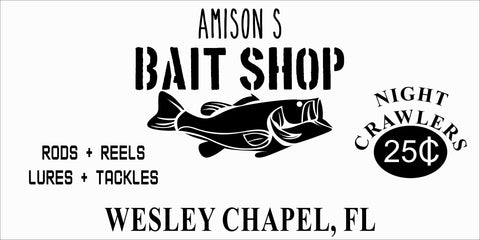 SIGN Design - Bait Shop Personalized