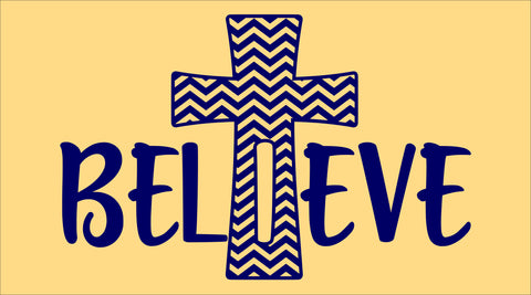SIGN Design - Believe Cross