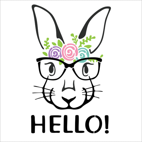 SIGN Design - Bunny with Glasses - Easter Sign