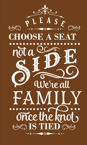 SIGN Design - Wedding - Choose A Side