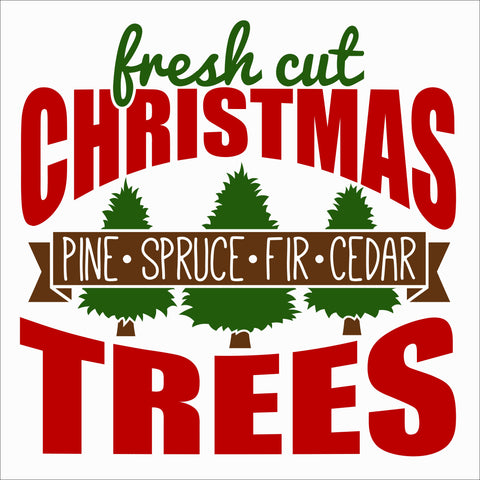 SIGN Design - Christmas - Fresh Cut Trees