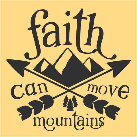 SIGN Design - Faith Can Move Mountains