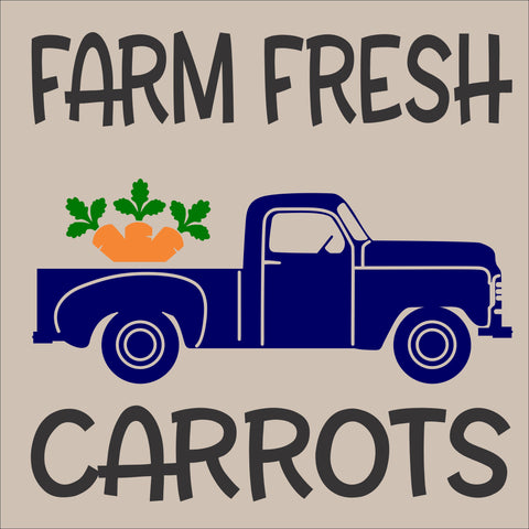 SIGN Design - Farm Fresh Carrots Antique Truck