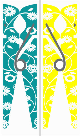 SIGN Design - Floral Clothespins (Set of 2) - Laundry Decor
