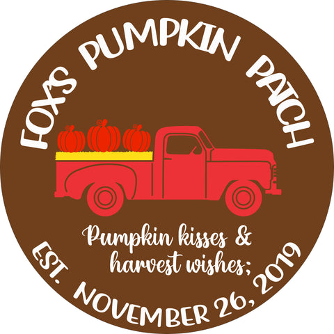 SIGN Design - Personalized Pumpkin Patch Antique Truck Sign