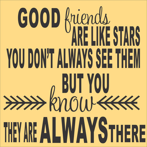 Sign Design - Friends Like Stars