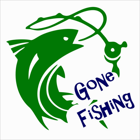 SIGN Design - Gone Fishing