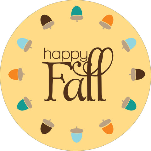 SIGN Design - Happy Fall Acorn Circle