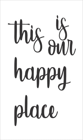 SIGN Design - This is Our Happy Place (Rectangular)