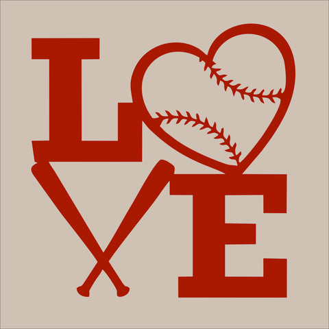SIGN Design - Baseball - Love