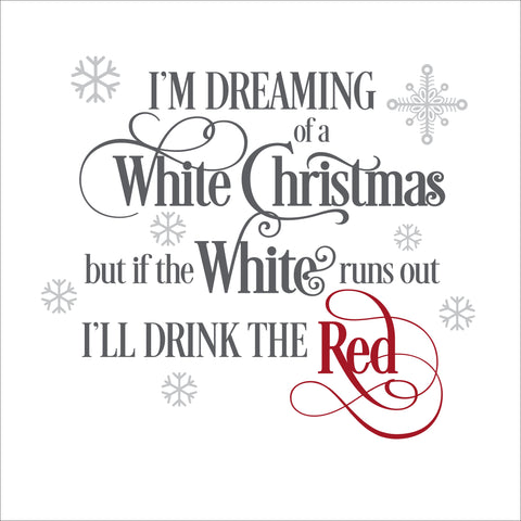 Sign Design - I'm dreaming of a white Christmas