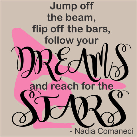 SIGN Design - Gymnast Nadia Dreams and Stars
