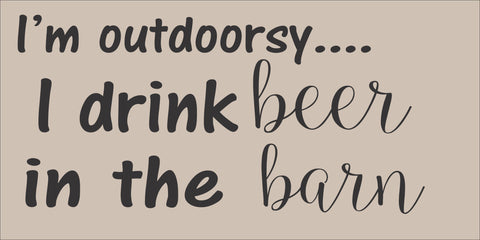 SIGN DESIGN - Outdoorsy - Beer in the Barn