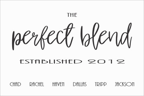 SIGN Design - Perfect Blend - Family Name Sign