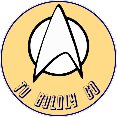 SIGN Design - To Boldly Go Star Trek