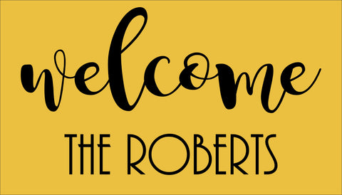 SIGN Design - Door Mat - Welcome Family Name